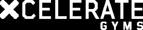 Xcelerate gyms logo white